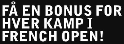 Betsafe French Open Bonus