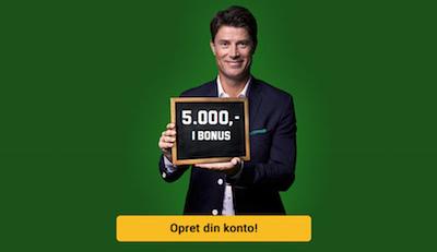 Unibet 5000 kr. odds bonus!