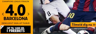 Betfair Champions League sign-up bonus