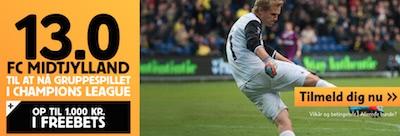 Betfair odds bonus til FCM's Champions League Kval
