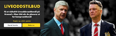 Live Betting Bonus til Arsenal - Man U