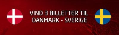 Tipico: Vind billetter til Danmark - Sverige