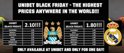 Unibet Black Friday Bonus