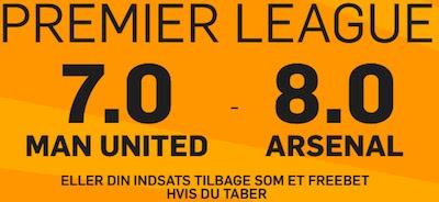 Flot odds boost på ManU-Arsenal hos bookmakeren 888Sport