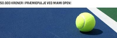 Tag del i 50.000 kr pulje hos Unibet på Miami Open 2016