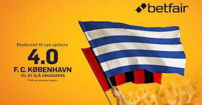 faa odds 4,00 hos betfair paa sejr til fck mod crusaders i EL kvalifikationen 2016