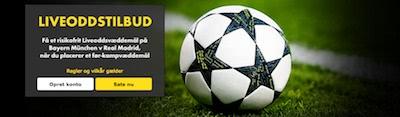 Bet365 Liveoddstilbud Bayern v Real