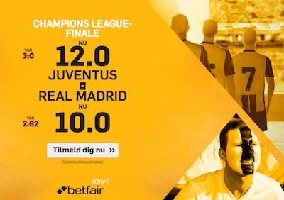 Betfair tilbud Champions League finalen