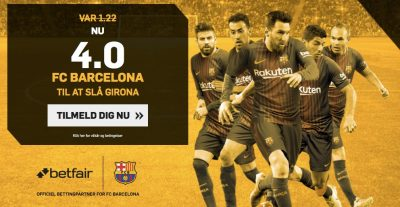Betfair tilbud - Barca mod Girona 4.0
