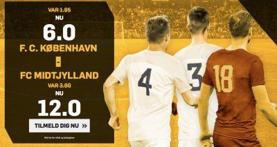 Betfair forhøjede odds FCK mod FCM