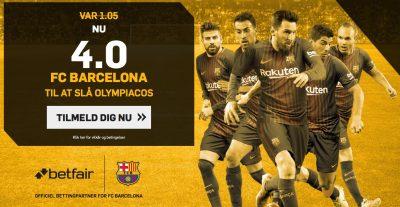 FC Barcelona odds bonus Olympiakos