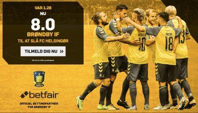 Betfair odds tilbud - Brøndby IF mod Helsingør