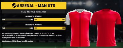 FC Arsenal vs. United Price Boost