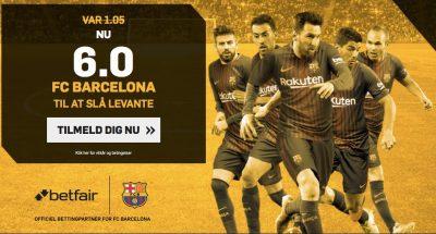 Barcelona mod Levante Odds Bonus Betfair