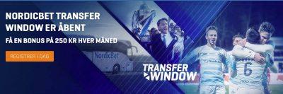 NordicBet Transfer Window Tilbud