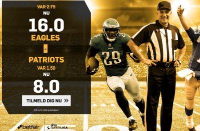 Super Bowl LI betfair Eagles vs. Patriots
