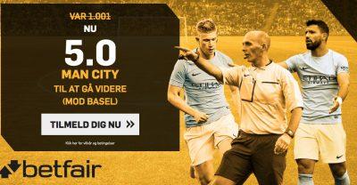 Odds bonus befair - City vs. Basel