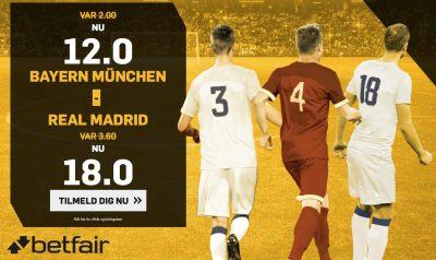 Betfair odds bonus CL Semifinale Bayern vs. Real
