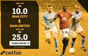 Odds bonus hos betfair Manchester Derby