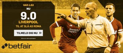 Betfair odds bonus Liverpool vs Roma