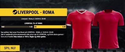 Price Boost bwin.dk CL semifinale Liverpool vs. Roma
