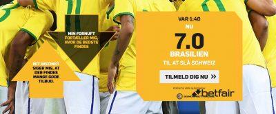 Brasilien Bonus Betfair VM 2018