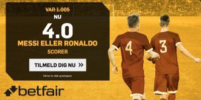 Betfair bonus Messi eller Ronaldo scorer