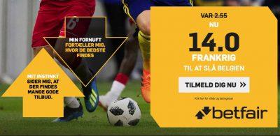 Odds bonus Frankrig vs. Belgien VM 2018