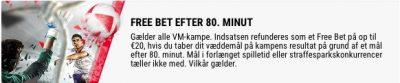Betstars Free Bet VM 80. Minut