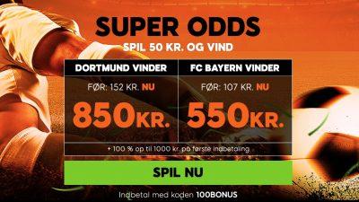 888sport velkomstbonnus plus super odds BVB