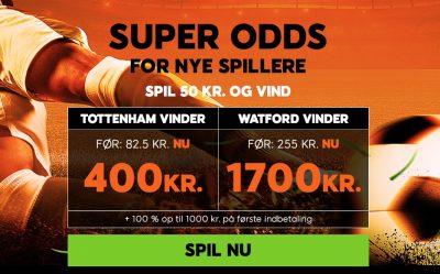 Super odds 888sport Tottenham vs. Watford
