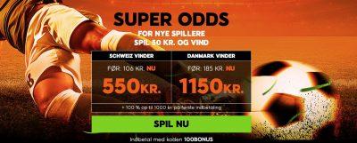 Odds bonus 888sport EM kval 2020