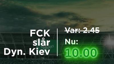 Mr. Green odds FC København – Dynamo Kiev