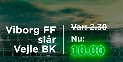 Viborg Vejle odds 10.00 (Mr Green)
