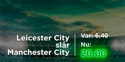 Manchester CIty - Leicester: odds boost Mr Green