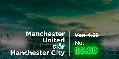 Manchester United – Manchester City Mr. Green odds boost