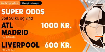 888Sport odds boost Atl-Madrid - Liverpool Champions League