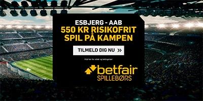 Betfair Spilleboers risikofrit spil Esbjerg - AaB