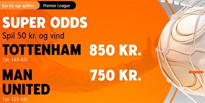 888Sport odds boost Tottenham - Manchester United