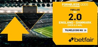 England - Danmark odds