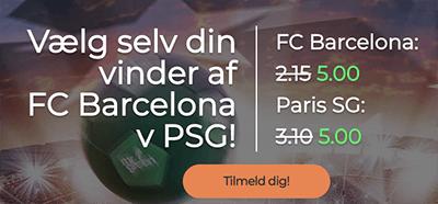 CL booster PSG Barcelona mr green