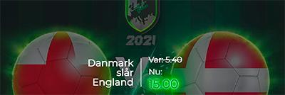 England - Danmarks odds boost Mr Green